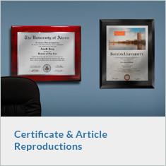 Certificate and Article Reproductions